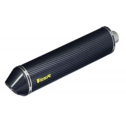 VIPER CARBON FIBRE OVAL SLIP-ON E-MARKED CAN PLUS CARBON END CAP