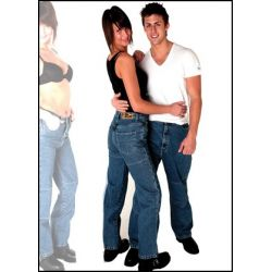 RS DJ1001 Mens Kevlar Black Jeans