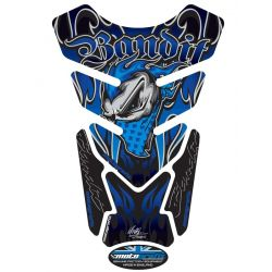 Motografix Tank Pads - Blue/Black Bandit Graphic