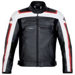 M-Tech J.T Sport Black White Leather Jacket