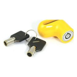 Mammoth Micro Yellow Disc Lock With 6mm Pin
