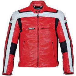 M-Tech J.T Sport Red White Leather Jacket