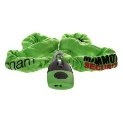 Mammoth Thatcham Approved 12mm x 1.8m Square Chain With Shackle Lock