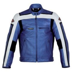 M-Tech J.T Sport Blue White Leather Jacket