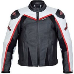 M-Tech J.Raptor Black White Leather Jacket