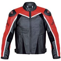 M-Tech J.Raptor Black Red Leather Jacket