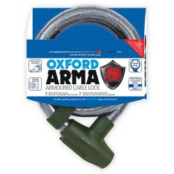 Arma20 Armoured Cable Lock 0.9m - Clear
