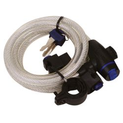 Oxford Cable Lock 12mm x 1800mm - Clear