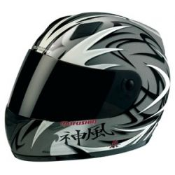 Marushin MAR101 Mikuma Grey Full Face Helmet