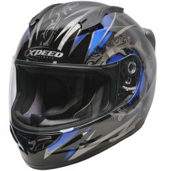 Xpeed XF705 Quest MC1 Helmet Black-Blue