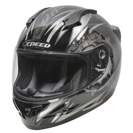 Xpeed XF705 Quest MC1 Helmet Black-Silver