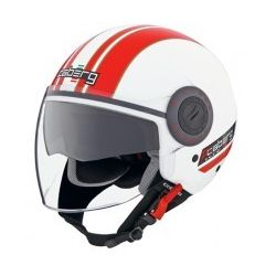 Caberg RivieraV2+ Pure White/Red Helmet