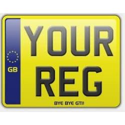 Rear Motorcycle Yellow Number Plate