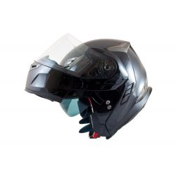 MT Flux Flip Front Helmet Awith Internal Visor Gloss Black