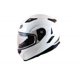 MT Flux Flip Front Helmet Awith Internal Visor Matt Black