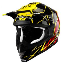 Scorpion VX15 Air Oil Black/Green Moto X Helmet
