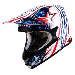 Scorpion VX20 Win Win Blue/White Moto X Helmet