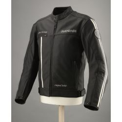 Bering Nash Jacket Black/Beige Leather Jacket