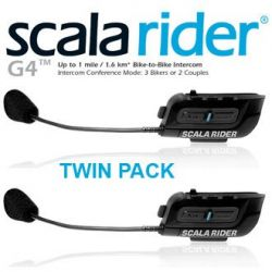 Cardo Scala Rider G4 Motorcycle Bluetooth Twin pack Helmet Intercom
