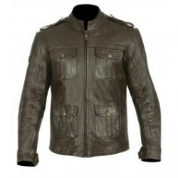 Frank Thomas FTL311 Richmond Leather Jacket Brown