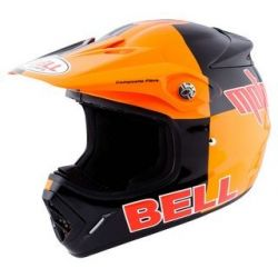 Bell Moto 8 Double Orange/Black