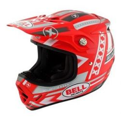 Bell Moto 8 Factory FC2 Red/White Helmet
