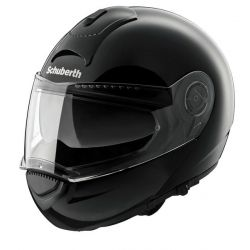 Schuberth C3 Gloss Black Flip Front Motorcycle Helmet