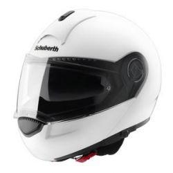 Schuberth C3 Gloss Silver Flip Front Motorcycle Helmet