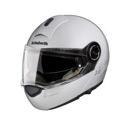 Schuberth C3 Ladies Gloss Silver Flip Front Motorcycle Helmet