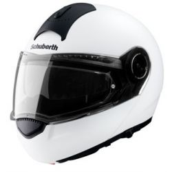 Schuberth C3 Matt White Flip Front Motorcycle Helmet