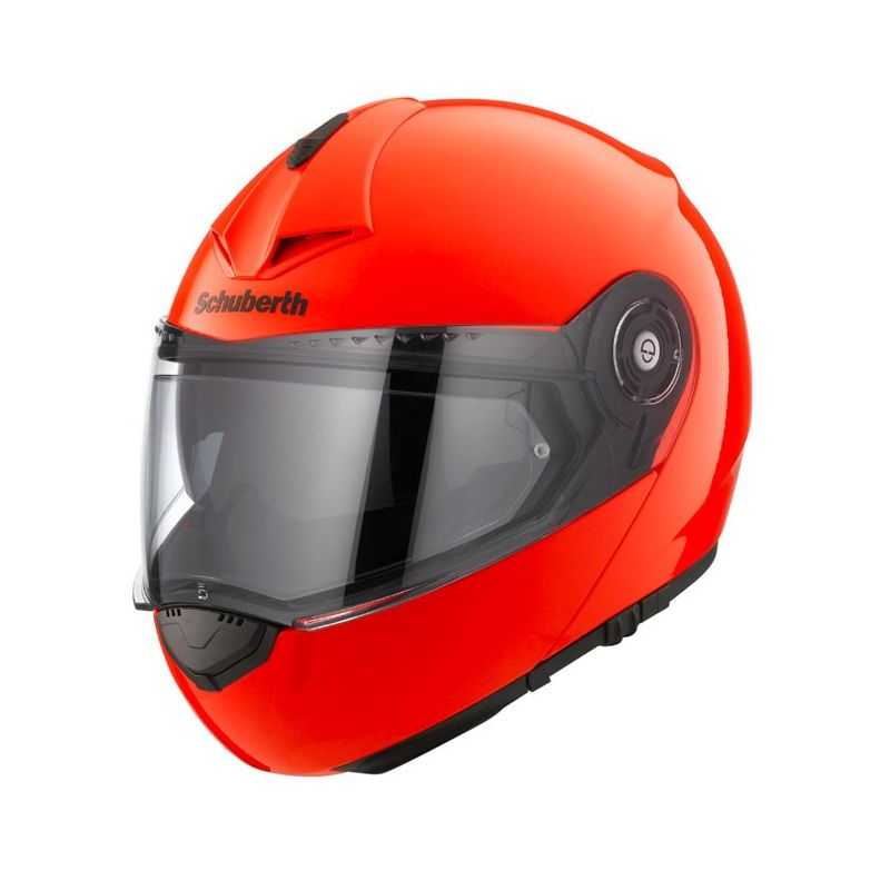 schuberth c3 pro fluo orange flip front motorcycle helmet. Black Bedroom Furniture Sets. Home Design Ideas