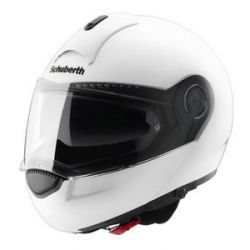 Schuberth C3 Pro Gloss White Flip Front Motorcycle Helmet