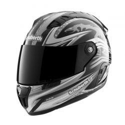 Schuberth SR1 Raceline Black/Silver S/G Motorcycle Helmet