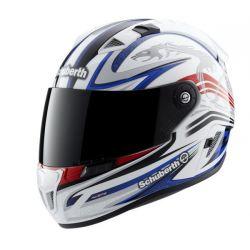 Schuberth SR1 Raceline White/Red/Blue Motorcycle Helmet