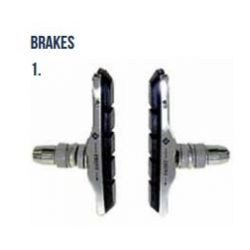 V-Brake Cartridge Brake Block And Holder - Pair