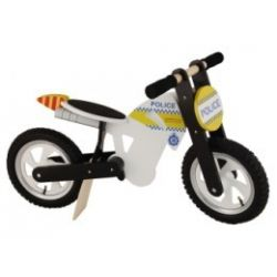Kiddi Moto Police Scrambler Woodern Motorcycle