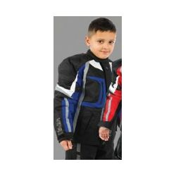 Kids Draco Jacket Black And Blue