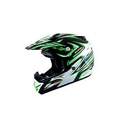 MT MX2 (Kids) Technical Black/Green Moto X Helmet