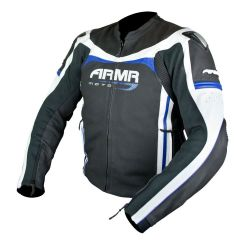 Armr Raiden Leather Jacket Black/Blue/White
