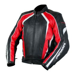 Armr Raiden Leather Jacket Black/Red/White