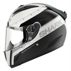 RACE-R PRO CARBON R.D MAT/BRI White black silver