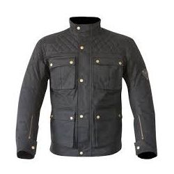 Merlin Armitage Wax Cotton Textile Jacket Black