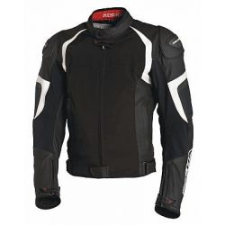 Richa Ballistic Evo Black/White Leather Jacket