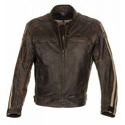 Richa Retro Racing Brown Leather Jacket