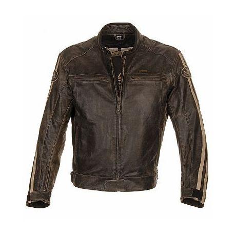 Richa Retro Racing Brown Leather Jacket