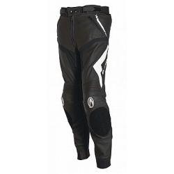 Richa Mugello Leather Trousers Black/White