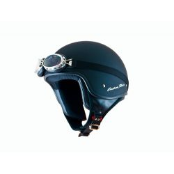 MT Custom Rider Open Face Helmet Matt Black