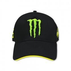 Monster VR46 Cap Black Flag/ Rossi Detail