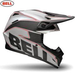 Bell 2014 MX Helmet (Adult) Moto 9 Carbon Emblem White