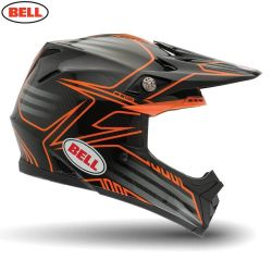 Bell 2014 MX Helmet (Adult) Moto 9 Carbon Pinned Orange